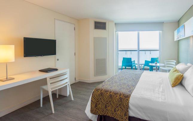 543d713f78 QUARTO ESTÂNDAR UMA CAMA DUPLA VISTA MAR GHL Hotel Relax Corais de Indias  Cartagena das Índias